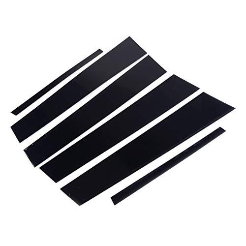 6stk Set Schwarz polierte Türsäule Pfosten Fenster Mittelplatte Schwellerabdeckung Verkleidung für Nissan Teana Altima 2019