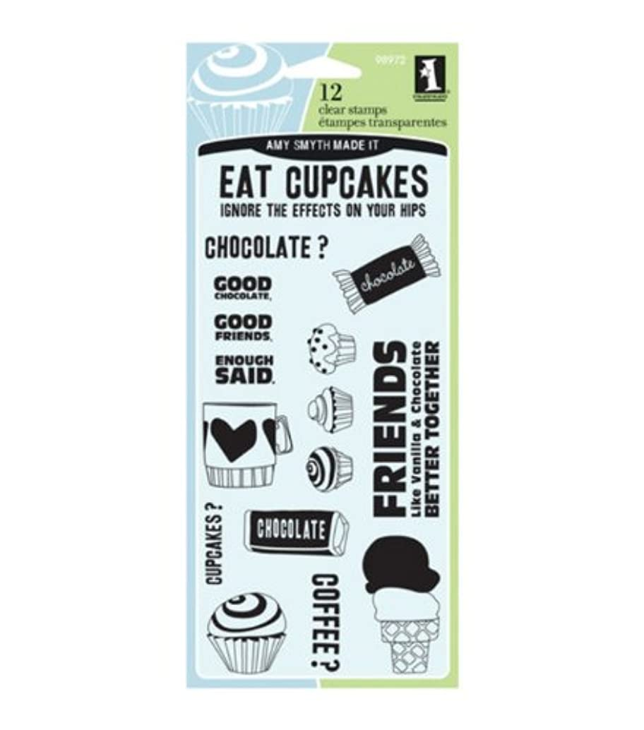 Inkadinkado(R) Clear Stamps - Eat Cupcakes