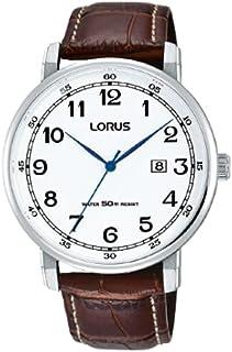 ساعة بسوار جلدي كلاسيكي للرجال من لوراس، RH931JX9