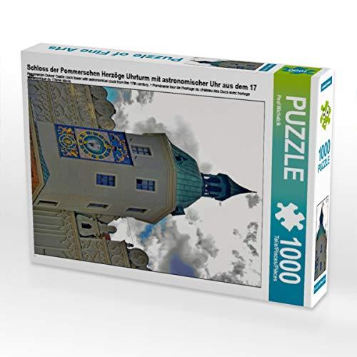 CALVENDO Puzzle Schloss der Pommerschen Herzöge Uhrturm mit astronomischer Uhr aus dem 17 Jh. 1000 Teile Lege-Größe 48 x 64 cm Foto-Puzzle Bild von Paul Michalzik