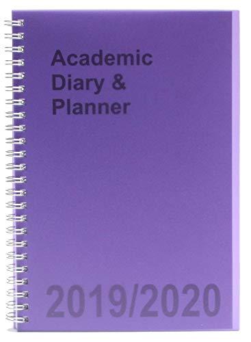 Agenda escolar A5 2019-2020 semanal con espiral, color morado