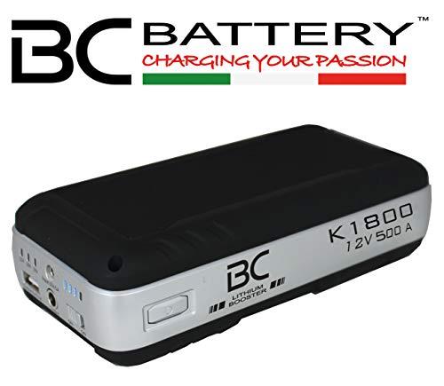 BC Battery Controller 709K1800 K1800 PRO 500 Ampère | Avviatore d'emergenza per Auto/Furgoni/Trattori Benzina, Diesel, Ibridi EQUIVALENTE A NOCO Plus GB40/NOCO Boost Sport GB20