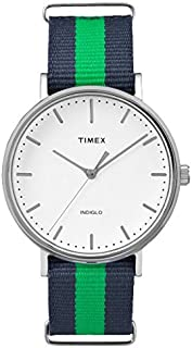 Timex Weekender Unisex White Dial Nylon Band Watch - TW2P90800