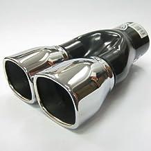 Autohobby 982 Doppel Auspuffblende Auspuff Universell Schalld/ämpfer Endrohr Doppelendrohr Sport Sportauspuff Edelstahl bis 57mm Chrom A B C G H J CC 3 4 5 6 7