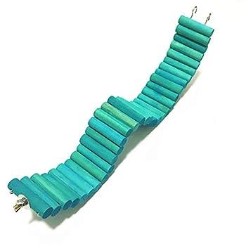 JPYH Hamster Ladder Coloré en Bois Pont Suspendu Pet Hanging Ladder Steps Escaliers Escalade Swing Échelle Escalade Flexible pour Souris Gerbilles Chinchillas Perroquets