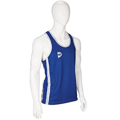 GREEN HILL Canotta da Boxe Blu Rossa Elite Boxing Vest Canottiera Pugilato (Blu, M)