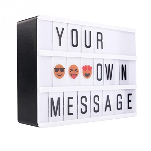 SoulSisters Living Led-lichtbox A6-lichtkast met flexibele letters en emoji magnetisch plakt op de koelkast