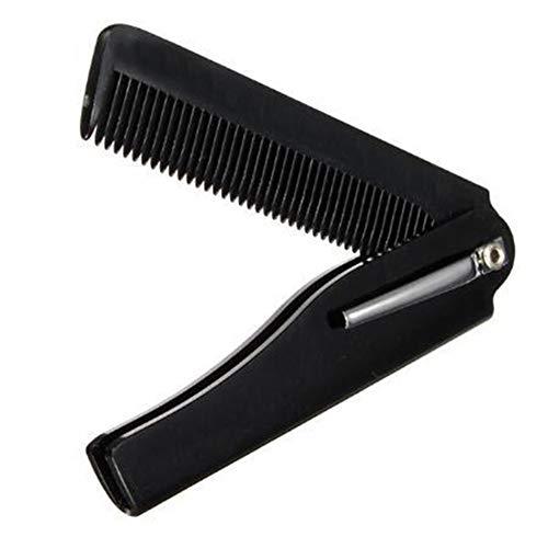 Peigne de coiffure pliable et portable pour démêler la barbe