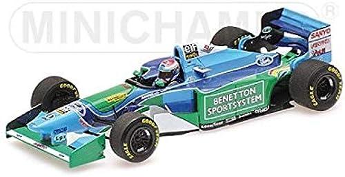 Formule 1 Benetton Ford B194  6 1st F1 Podium 3rd Place Hungarian GP 1994 - 1 43 - Minichamps