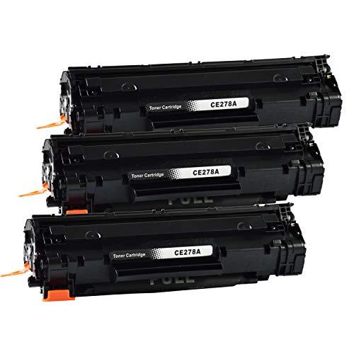 3 Bubprint Toner kompatibel für HP CE278A 78A für Laserjet Pro M1536DNF M1537DNF M1538DNF M1539DNF MFP P1566 P1600 P1606DN P1607DN P1608DN P1609DN Schwarz