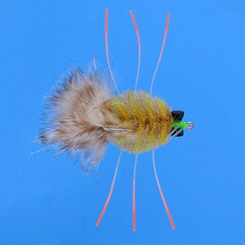 Enrico Puglisi Bonefish Behindertenausweis Fly EP Crab Fliegen–2Pack, Golden Sand, 8
