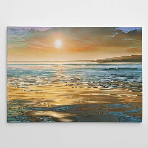 Renditions Gallery Evening Calm Sunset Art Wall Décor for Home, Office, Bedroom, Living Room 18X27