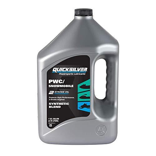 Quicksilver 8M0175743 2-Stroke PWC/Snowmobile Engine Oil – Premium Synthetic Blend – 1 Gallon