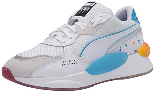 PUMA Men's RS 9.8 Tetris Cross Trainer, White-Luminous Blue, 9.5 M US