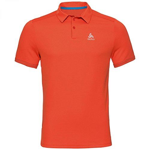 Odlo Polo s/s Nikko f-Dry Light T-Shirt, Homme M Flamme