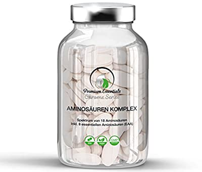 Amino Acid Complex |1000 mg | 200 Tablets (Vegan) | Containing All 18 Amino Acids incl. 8 Essential Amino Acids | Muscle Growth + Weight Loss + Muscle Support | Premium Quality MADE IN GERMANY