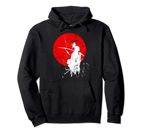 Japanische Samurai Krieger Retro Japan Mut Respekt Geschenk Pullover Hoodie
