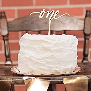 Cake Topper One Year Old One Cake Topper -Rustic Wood Cake Topper First Birthday Cake Topper - 1st Birthday - Smash Cake Topper - Birthday Decor - 1st Birthday Topper - Wood Cake Topper (Rustic Wood)
