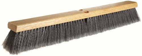 "Weiler 42042 24"" Block Size, Flagged Silver Polystyrene Fill, Fine Sweep Floor Brush, Natural"