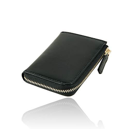 [GRAV] 小銭入れ メンズ コインケース 本革 小さい 財布 コンパクトモデル (ブラック/ブラック)
