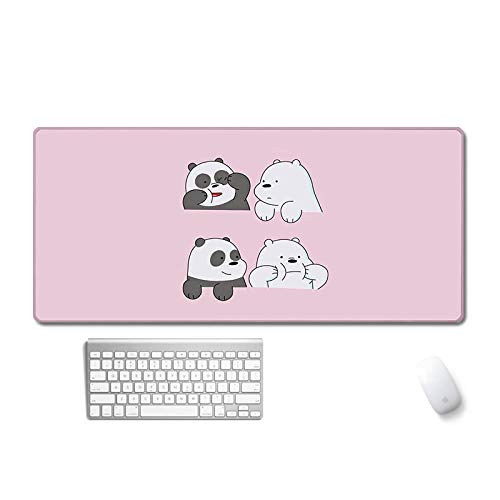 LINJJ Cute Naked Bear Cartoon Mouse Pad Cojín Grueso Grueso para Estudiantes Personal de Oficina Bloqueo de Oficina Edge Table Pad Pad de Teclado-Emoji Oso Desnudo_400 * 700 * 3 mm