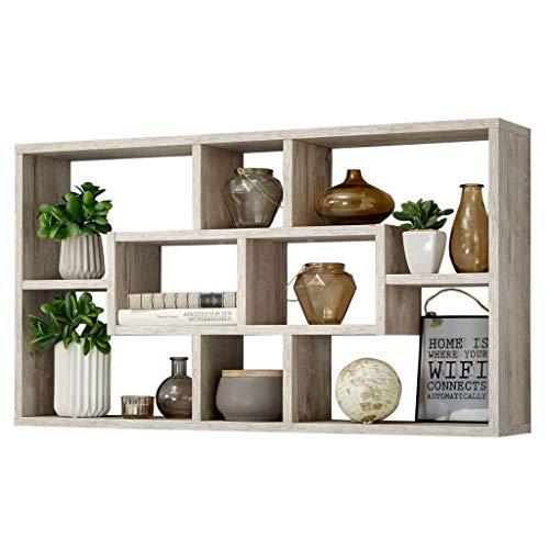 FMD furniture Wandregal, Holz, Sandeiche, 87 x 48 x 16 cm