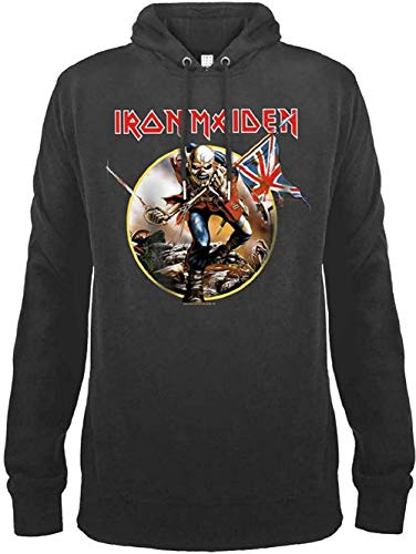 Amplified Hoodie Iron Maidon Trooper Charcoal (X-Large)