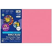 Tru-Ray PAC103045BN Construction Paper Shocking Pink 12 x 18 50 Sheets per Pack 5 Packs [並行輸入品]