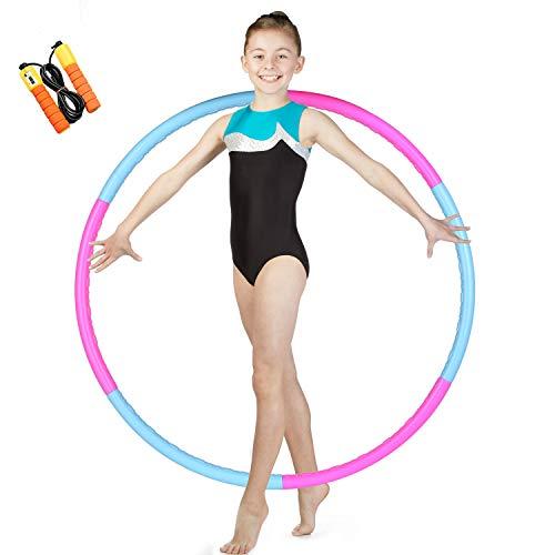 Waxden Kids Exercise Hoop Detachable amp Size Adjustable Hoola Rings Professional Training Hoop for Kids