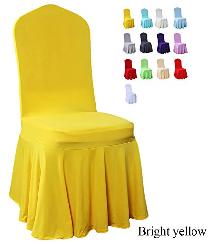 Sun Skirt Stretch Comedor Silla Funda De Poliuretano Fibra Elástica Extraíble Lavable Fundas De Asiento Protector para Hotel Boda Decoración para El Hogar