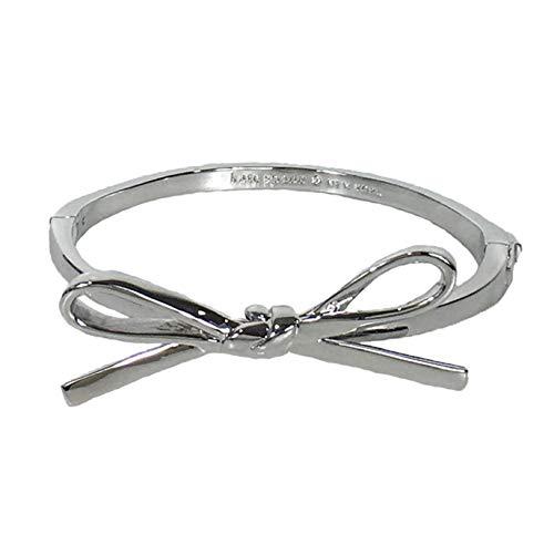 Kate Spade New York Skinny Mini Bow Bangle Bracelet Silver