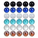 TOYANDONA 50 Piezas de Canicas de Vidrio Gemas de Cristal Transparente Cuentas de Mosaico Guijarros para Niños Juegos de Mármol DIY Acuario Florero Rellenos Mesa Dispersión Decoración del