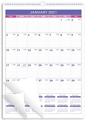 Calendar 2021 2022 18 months Monthly Wall Calendar Planner Jan 2021 June 2022 12 x 17 Twin Wire product image