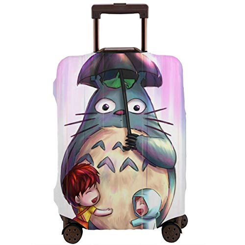 Travel Luggage Cover Anime Color My Neighbor Totoro Suitcase Covers Protectors Zipper Washable Baggage Luggage Covers Fits S