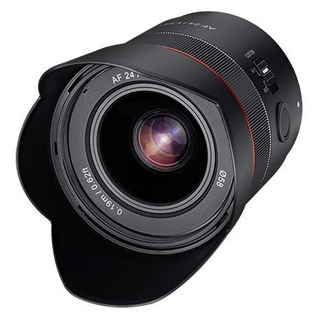 Samyang AF 24mm F1.8 Sony FE Tiny but Landscape Master - Autofokus Vollformat und APS-C Weitwinkel Festbrennweite Objektiv für Sony E, FE, E-Mount für Sony Alpha A9 A7 A7c A6000 A5000 Nex