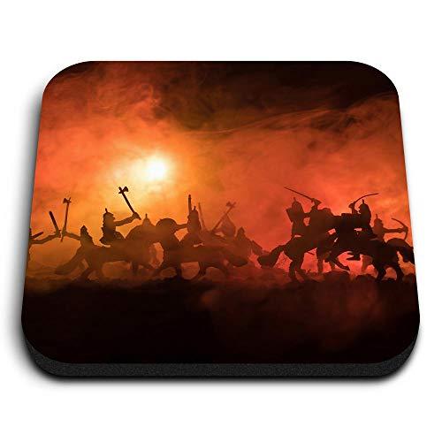 Destination Vinyl ltd Impresionantes imanes cuadrados MDF – Battlefield Antiguo caballo de lucha para oficina, armario y pizarra blanca, pegatinas magnéticas, 14011
