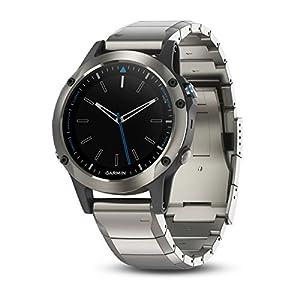 Garmin quatix 5 Sapphire, Multisport Marine Smartwatch, Comprehensive Boat Connectivity, Stainless Steel/Metal Band