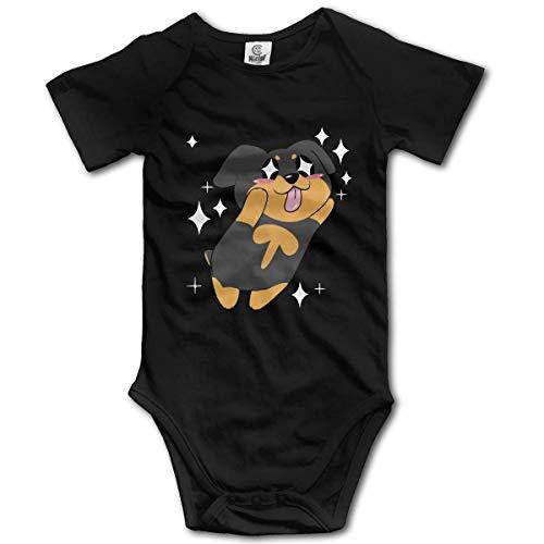 WlQshop Mono para Bebé,Mameluco Bebé Unisex Rottweiler Cute Newborn Baby Bodies Short Sleeve Baby Girls Bodies