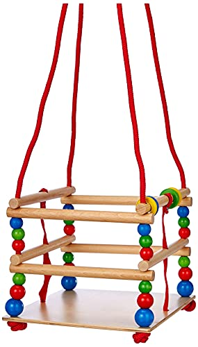 Hess Holzspielzeug 31101 - Gitterschaukel aus Holz, circa 30 cm