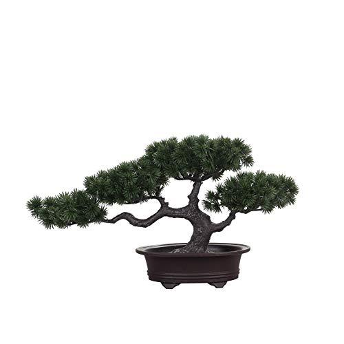 Japanische DekoWohnzimmer Bonsai,Zimmerpflanzen im Topf Künstlich,Höhe ca. 20 cm,Grün