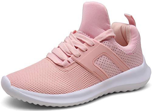 Vedaxin Zapatillas de Deporte Respirable Sneakers Zapatillas Running para Hombre Mujer Unisex (EU40, A Rosa)