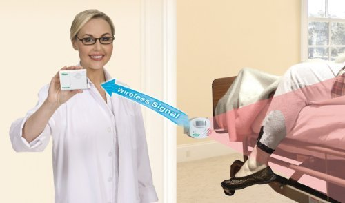 Motion Sensor & Pager with AC Adapter - No Alarm in Patient Room - Package Also Includes a Kerr Medical Anti-Bacterial Wipes