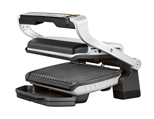 Tefal NEU GC705D OptiGrill Gril de contact, Acier Inoxydable/Noir