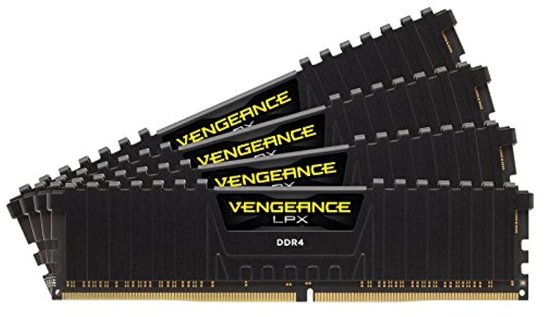 CORSAIR Vengeance LPX 32GB (4x8GB) DDR4 3000MHz (PC4-24000) C15 Desktop Memory Kit – Black