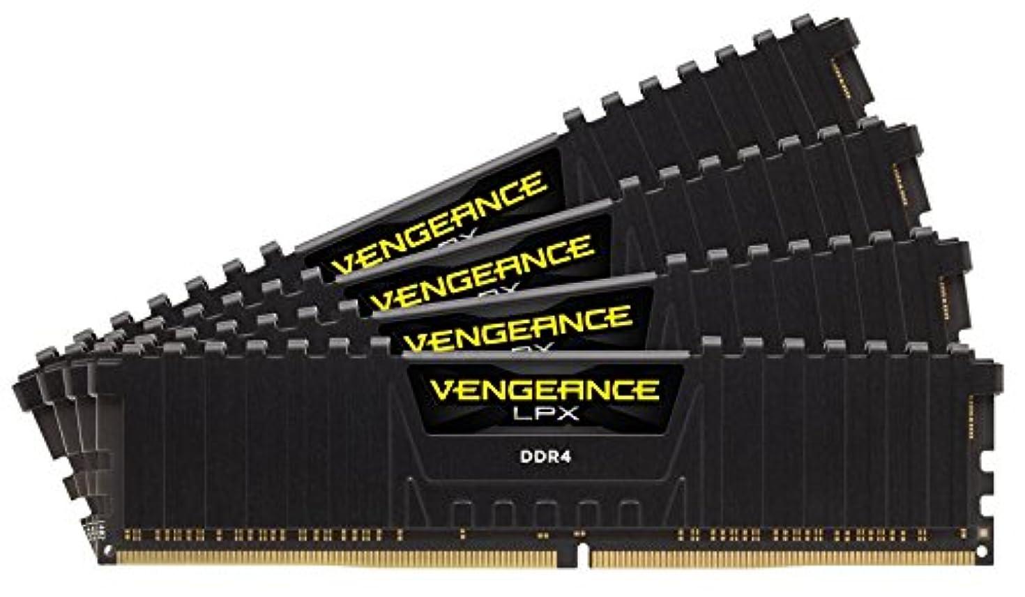 Corsair Vengeance LPX 64GB (4x16GB) DDR4 C18 with Airflow for Intel 200 - Black PC Memory CMK64GX4M4B3600C18