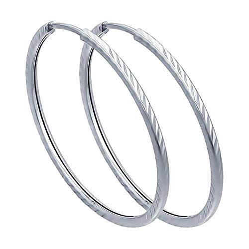 SOKOLOV Jewelry dames oorbellen echt zilver creolen 20 mm I elegante oorbellen dames 925 zilver Kongo oorbellen I Exclusief designer merk sieraden dames sieraden oorbellen elegante zilveren oorbellen