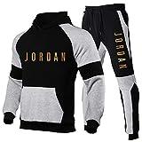 NOTREPP 2020 Chandal Hombre Completo, Jordan Chandal Hombre Y Pantalon Chandal Hombre, Empalme De Tres Colores Moda Fitness Jogging Ropa Deportiva (s-3xl) Gold-XL