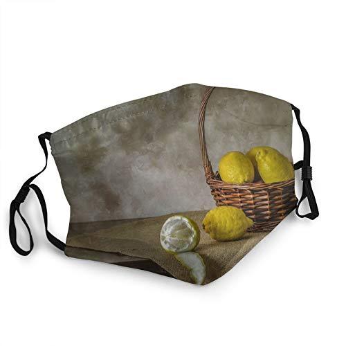 Comfortable fashion Face Mask Lemons Fruit Background Mouth Face Protect Bandana Balaclavas Dust Mask