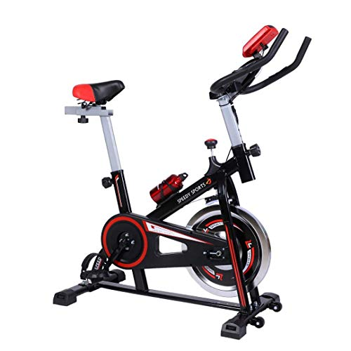 Buyer Empire Exercise Bike For Home, Heavy Duty Weight Loss Machine, 10KG Flywheel with Resistance System, Spin bikes for home training, Cardio Machine With LCD Monitor and Pulse Sensor