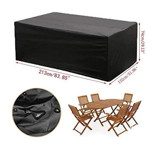 Cubierta de los muebles 210D cubierta de polvo impermeable de tela oxford mesa de jardín al aire libre y cubierta de muebles de jardín, 210D Oxford tela de revestimiento de PU Ma Yin (puede hacerse pr